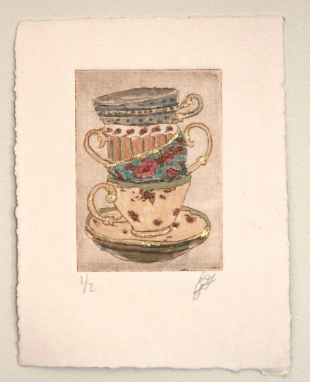 teacups etching